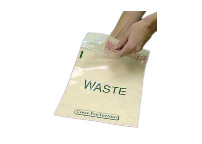 Beige Standard Waste Stick-On Bags