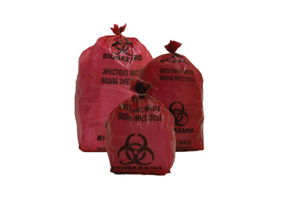 Small Red Biohazard Waste Bags