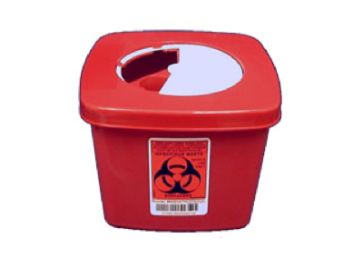 1/2 Gallon Red Sharps Container