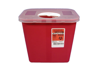 2 Gallon Red Sharps Container