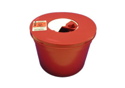 5 Quart Red Round Sharps Container