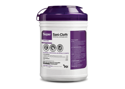 Super Sani-Cloth® High-Alcohol Surface Disinfectant Wipes