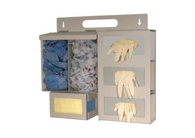 Triple Glove Box Protection Organizer with Clear Bins
